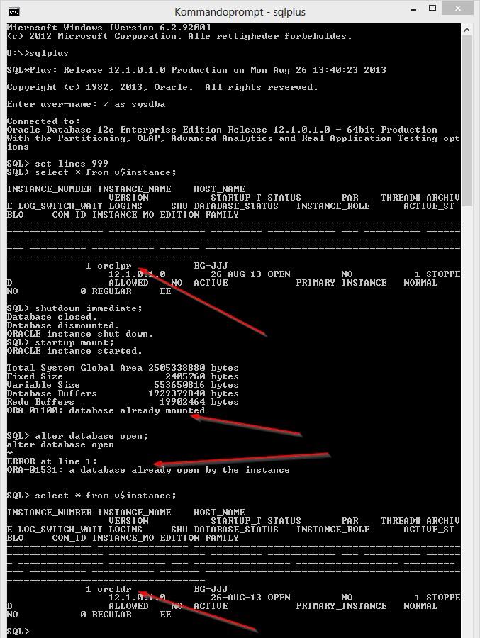 alter database
